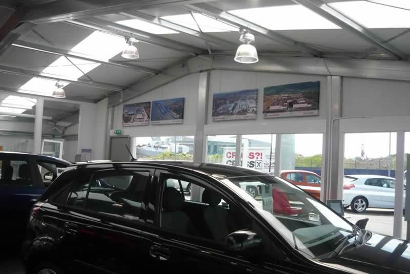 Bespoke Steel Car Dealership Showroom Building Glasgow Smart Space