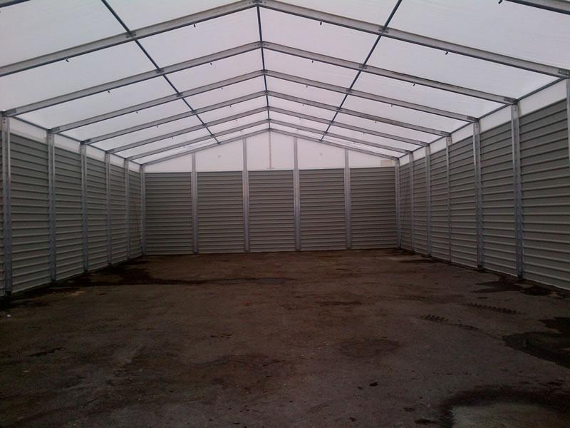 Temporary Storage Building For Contract Bottling Company