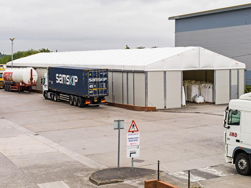 Thermo Roof Temporary Powder Storage Building Smart Space