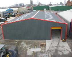 Bespoke steel buildings for production - manufacturing