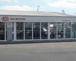 Kia Motors new dealership car showroom