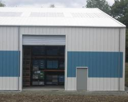 Factory extension building - fast permanent building installation