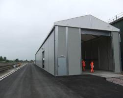 Amey Rail temporary re-locatable workshop