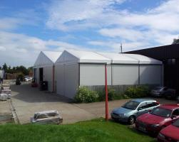 Thermo-roof warehouse buildings joined with gutter