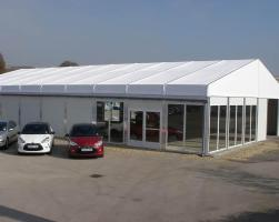 Temporary motor car dealership showroom building