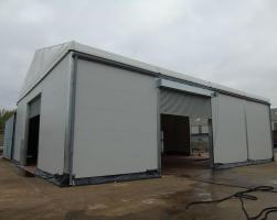 Decontamination processing temporary building
