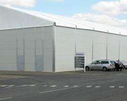 Temporary warehouse facility at Perkins Shibaura Engines Ltd
