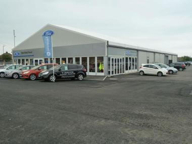 Benfield Motors Temporary Car Showroom Building