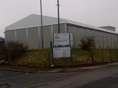 Temporary on-site storage building for Contract Bottling