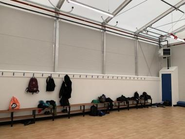 A temporary sports facility for Sherburn High School in Leeds