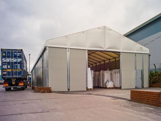 Resin Handling Services temporary storage building